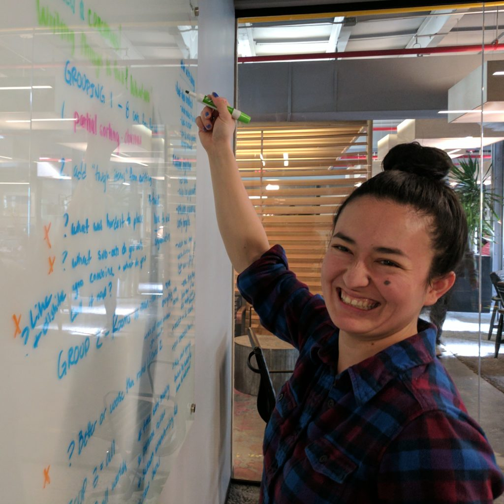 Logic Department employee mapping a client project