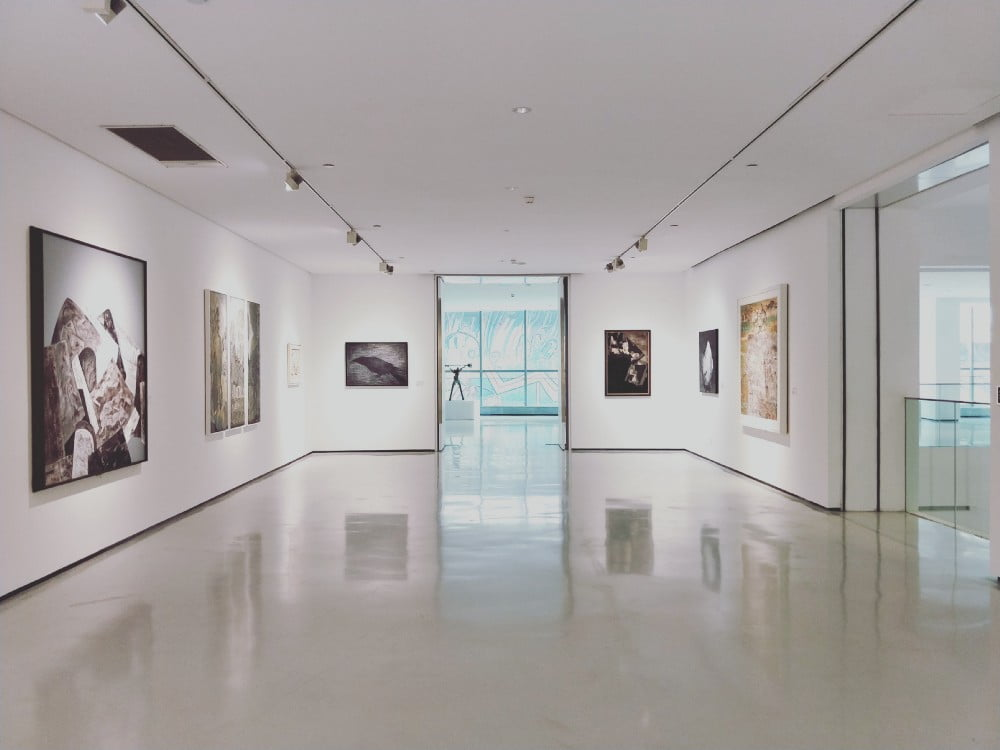 Photo of a room in an art gallery